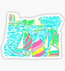 Lilly Pulitzer Oregon State Inspired  Sticker