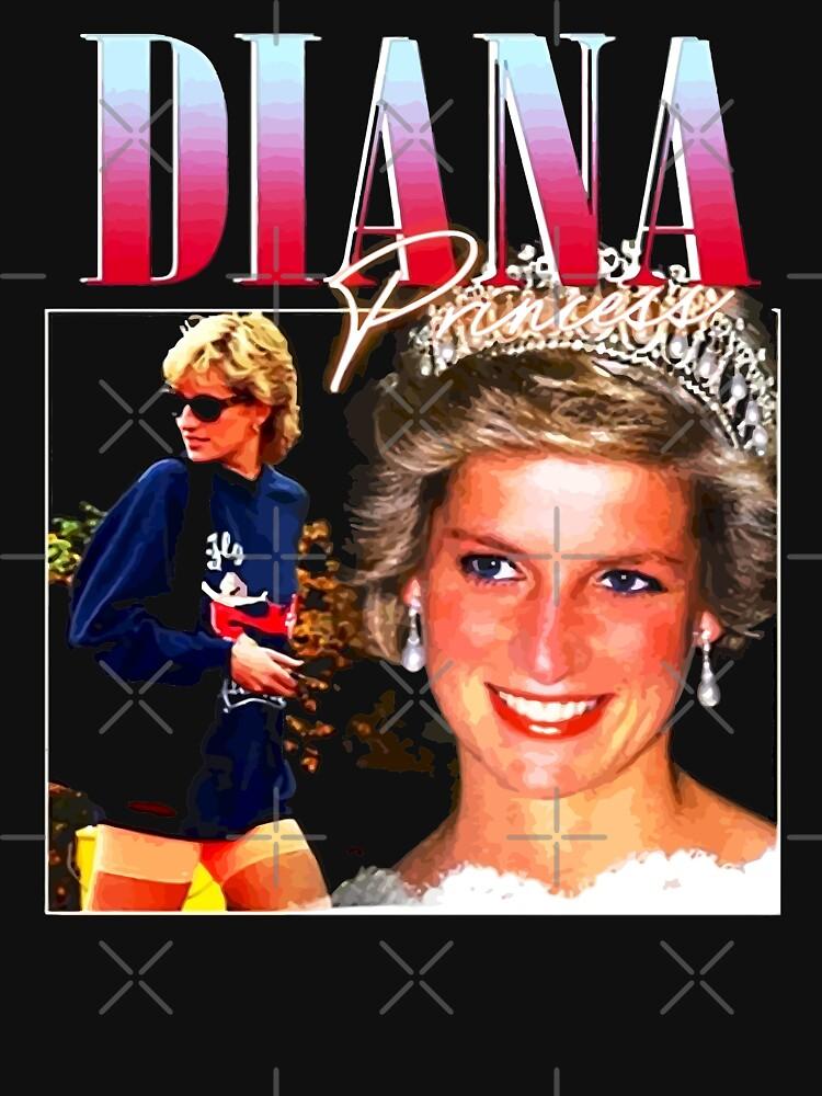 Official Merchandise PRINCESS DIANA Rap Hip Hop Princess Diana 90s Retro Vintage by charlesobins