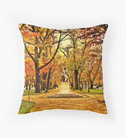 Commonwealth Ave in Boston Throw Pillow