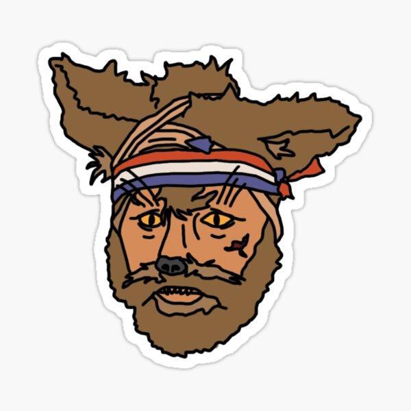 The Mighty Boosh, Crack Fox Sticker