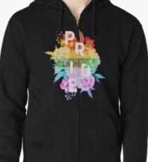 Floral Pride Zipped Hoodie
