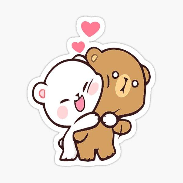 cute milk peach bears Sticker