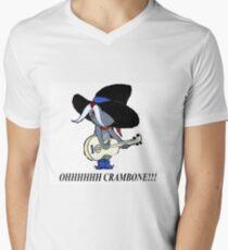 Onkel Pecos Crambone Tom und Jerry T-Shirt mit V-Ausschnitt