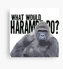 What would Harambe do? Canvas Print
