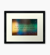900 Years of Time and Space. Framed Print