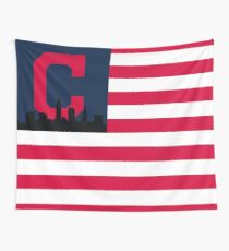 Cleveland Indians American Flag Wall Tapestry