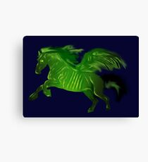 Green wing horse Canvas Print