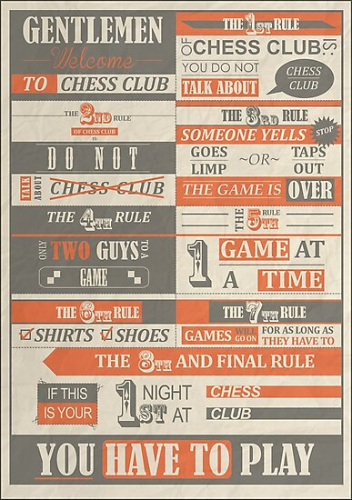 Fight Club x Chess Club by Badga