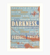 Pulp Fiction: Ezekiel 25:17 (Bloodied) Art Print