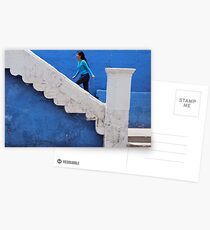 Woman in Blue Postcards
