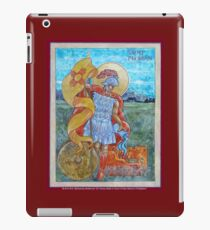 St. Florian Icon - Patron Saint of Firefighters. E mail me to find out how to have your logo or state flag on the shield! iPad Case/Skin