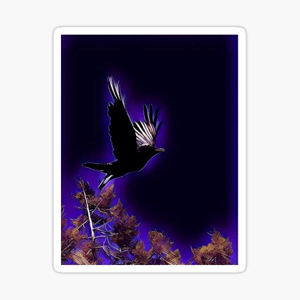 Raven over the Mesa Sticker