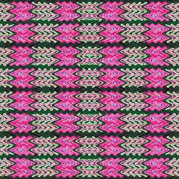 Pink Green Tiled Pattern by donnagrayson
