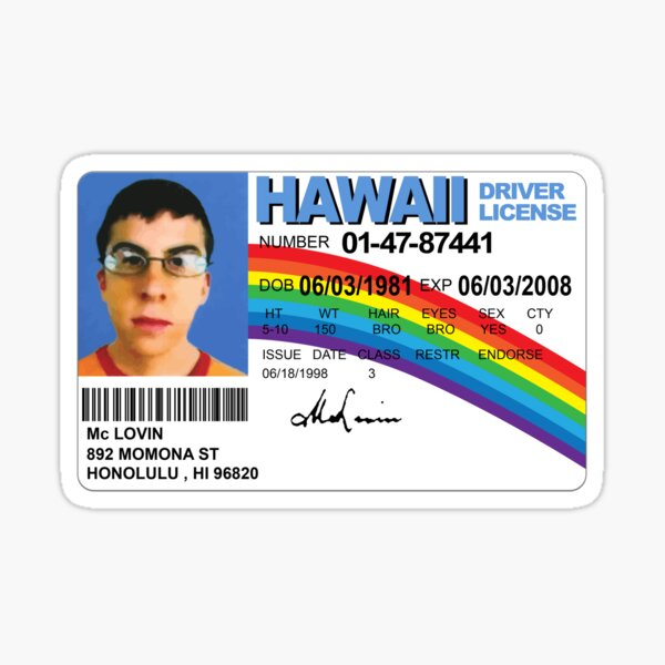 McLovin - High Quality Sticker