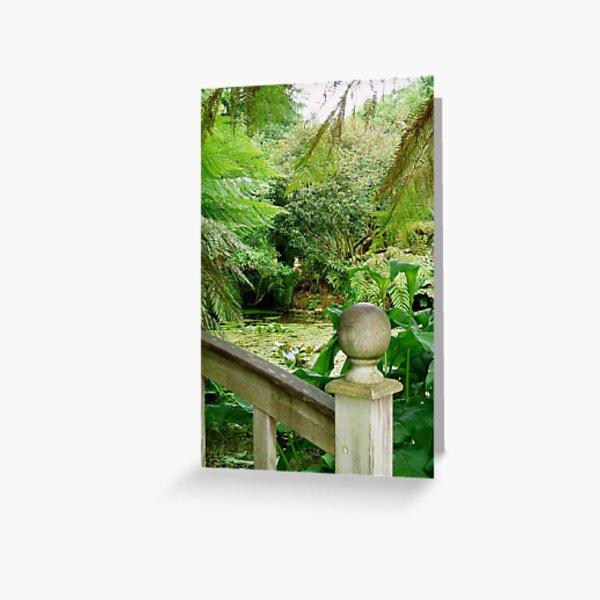View from the Bridge, Trengwainton Gardens, Cornwall Greeting Card