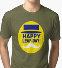 HAPPY LEAP-DAY 2 x Tri-blend T-Shirt