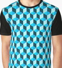 Blue 3D Background  Graphic T-Shirt