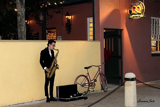 The Sax Player @ Der Pretzel Haus by SummerJade