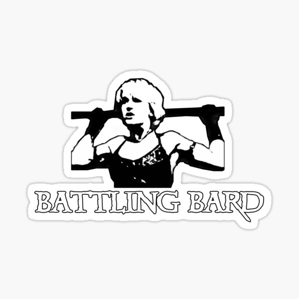 Xena Warrior Princess, Gabrielle Battling Bard Sticker