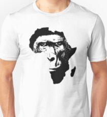 African Safari Babboon T-Shirt Africa Map T-Shirt Unisex T-Shirt