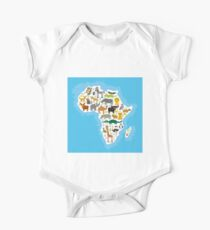 Animal Africa Continent One Piece - Short Sleeve