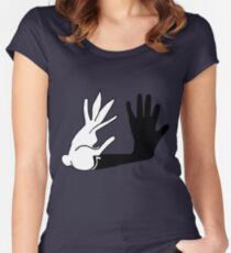 Easter Bunny Shadow Puppet Women's Fitted Scoop T-Shirt