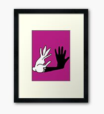 Easter Bunny Shadow Puppet Framed Print