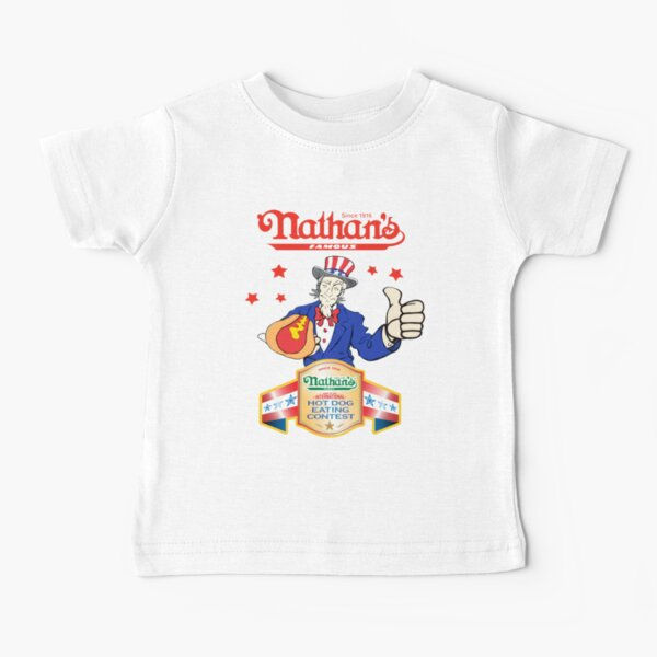 Joey Chestnut Nathans Hot Dog Eating Fourth Of July 2021 Baby T-Shirt