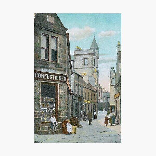 Vintage Illustration of Commercial Street, Lerwick, Shetland Photographic Print