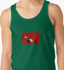 Holiday Antler Ferret Tank Top
