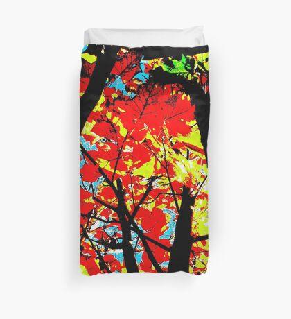 Flame Trees Duvet Cover