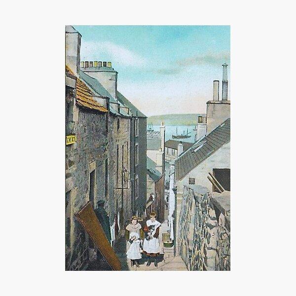 Vintage Illustration of Reform Lane, Lerwick, Shetland Photographic Print
