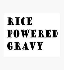Rice powered gravy Photographic Print
