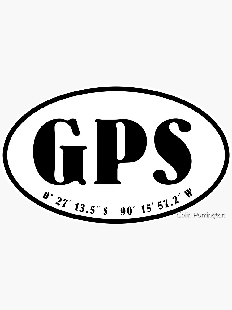 Galapagos Islands airport code oval stickers by colinpurrington