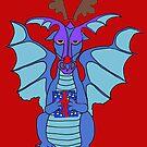 Christmas dragon by mindgoop