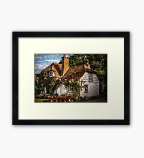A Chiltern Cottage in Turville, Buckinghamshire Framed Print