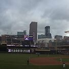Target Field Skyline - Minnesota Twins by worldwideart