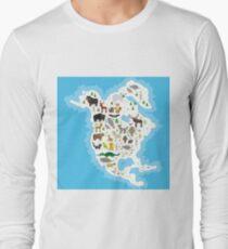 Northern America Animal Map T-Shirt