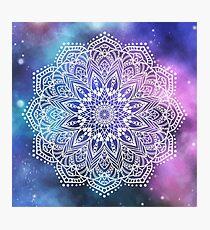 Mandala - white galaxy Photographic Print