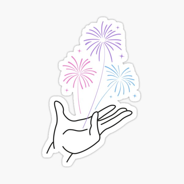 Magical Fireworks Loki Sticker