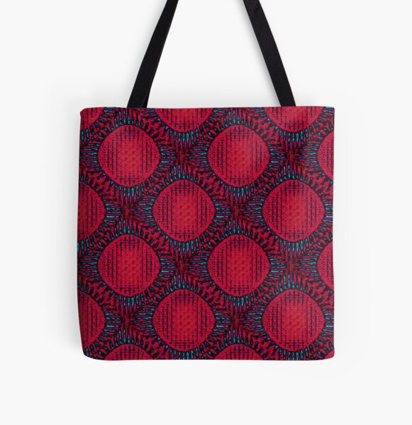 Red Sun Pop ART All Over Print Tote Bag