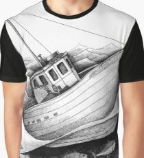 Boat with tuna in rough seas Graphic T-Shirt