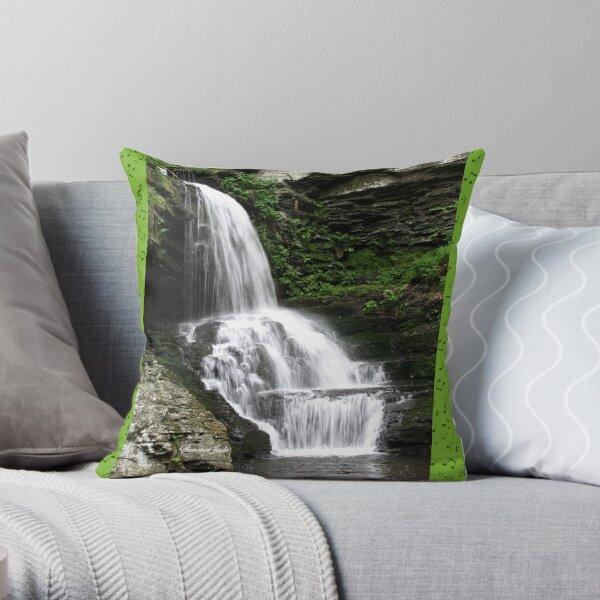 Misty Waterfall ~ Springtime Fresh Throw Pillow