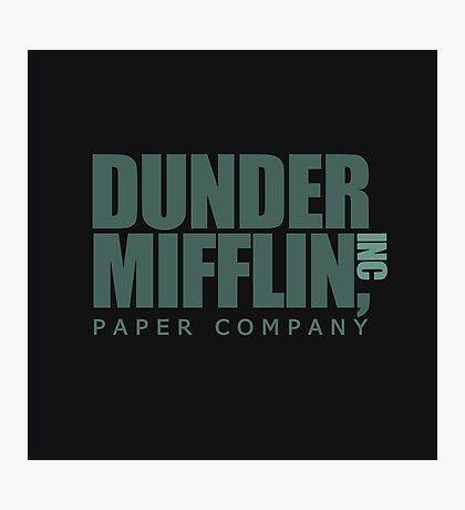 Dunder Mifflin Paper Company Photographic Print