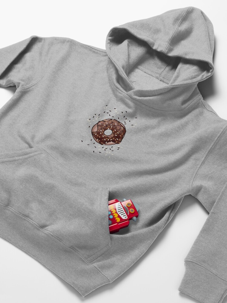Alternate view of Chocolate Donut Kids Pullover Hoodie
