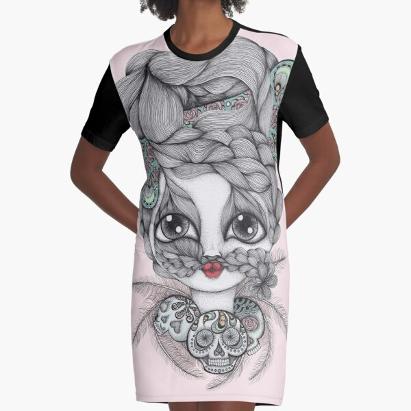 My Friend The Witch Doctor Graphic T-Shirt Dress
