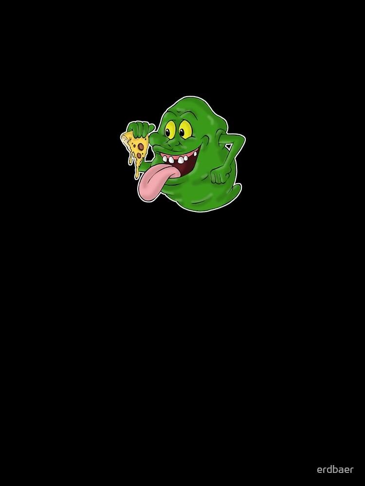 Slimer eating pizza by erdbaer