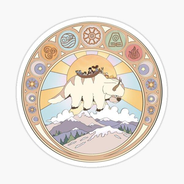 Team Avatar and Elements Design Sticker