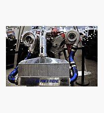 twin turbo setup Photographic Print