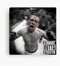 Nate Diaz - Straight Outta Stockton Canvas Print
